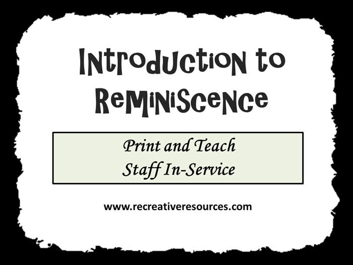 reminiscence therapy We wanted to find out what effect reminiscence therapy (rt) has on people with dementia in particular, we were interested in effects on quality of life, communication, cognition.